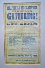 Poster for First Strathardle Gathering