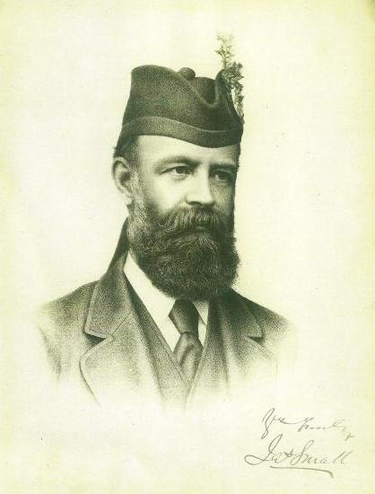 An autographed photo of James Small (1835-1900) former laird of Dirnanean.
