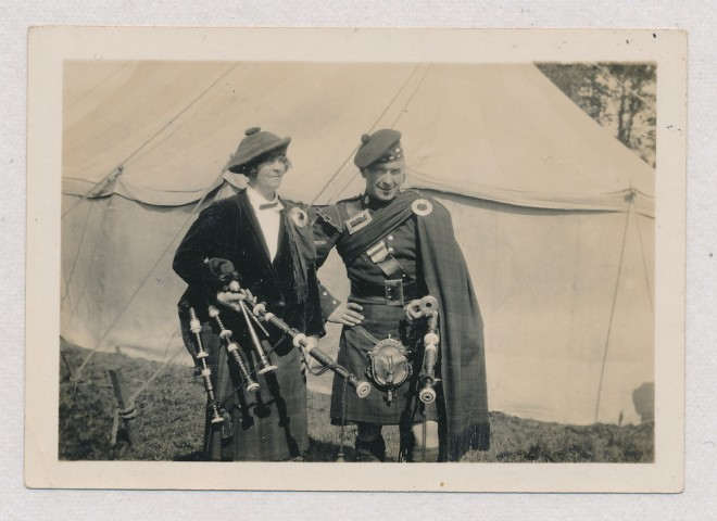 Lilly Balfour and brother Macmillan, Kirkmichael Games 1928'