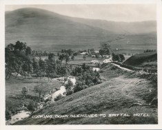 Looking Down Glenshee to Spittal Hotel