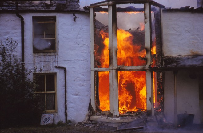 Flames devastate both floors of the Spittal.
