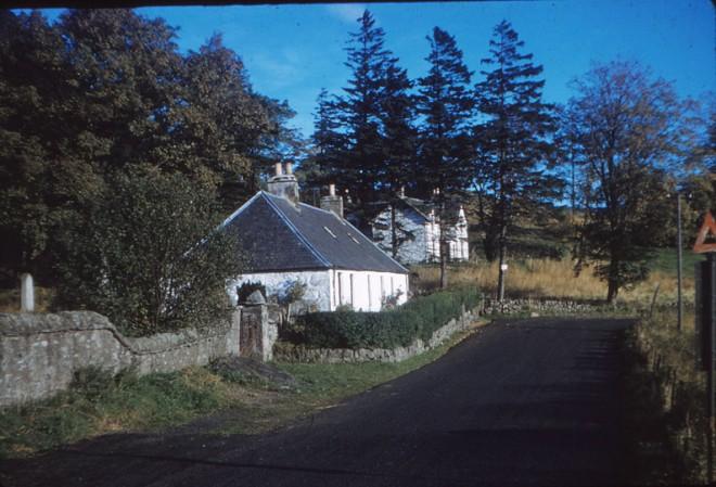 Cottage next to Glenshee Church.