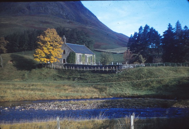 Glenshee Church, beautifully positioned by the river Shee