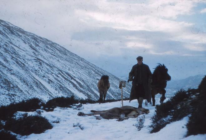 Jim Ramsay in the hills.