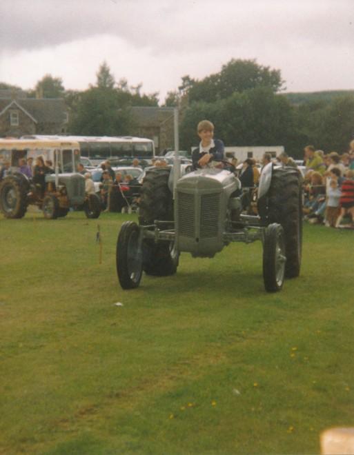Tractor parade. Strathardle Gathering, 1994.