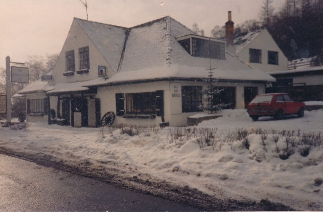 The Inn in winter. Lots of visitors came at this time for the skiing and a rowdy Scottish Hogmanay.