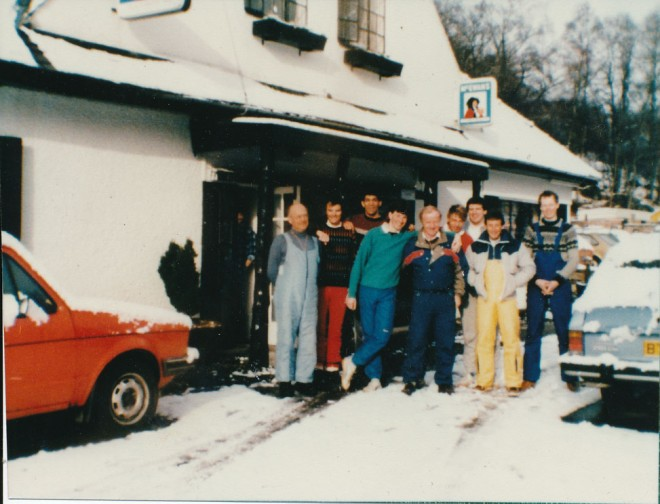 A biker/ski group that regularly visited the Inn when they came to Glenshee.