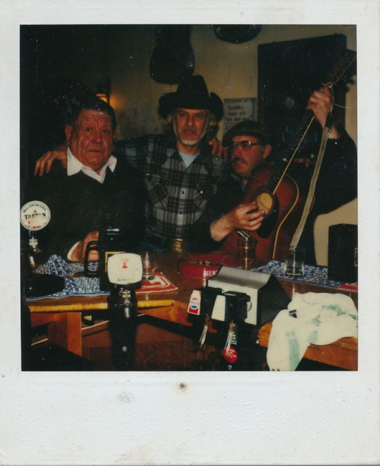 (l-r): Donald Ferrier (landlord of the Glenisla Hotel), Ivy's husband, and Ronnie Buchan.
