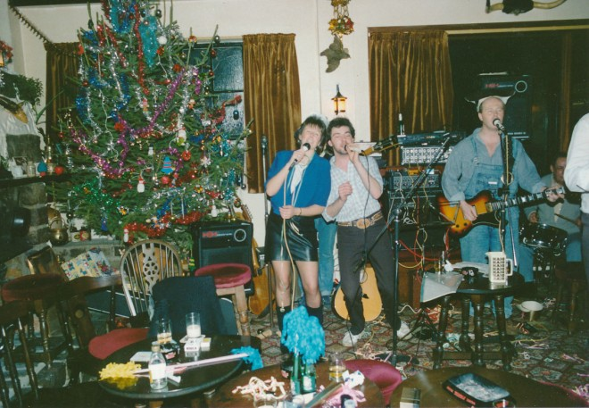 The band Texas Moon, plus Ivy's son Allan on a New Year's Eve at Blackwater.