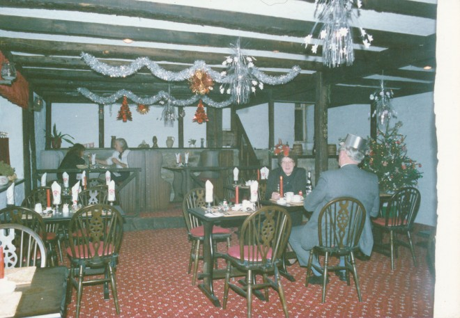 The dining room of the Blackwater Inn.