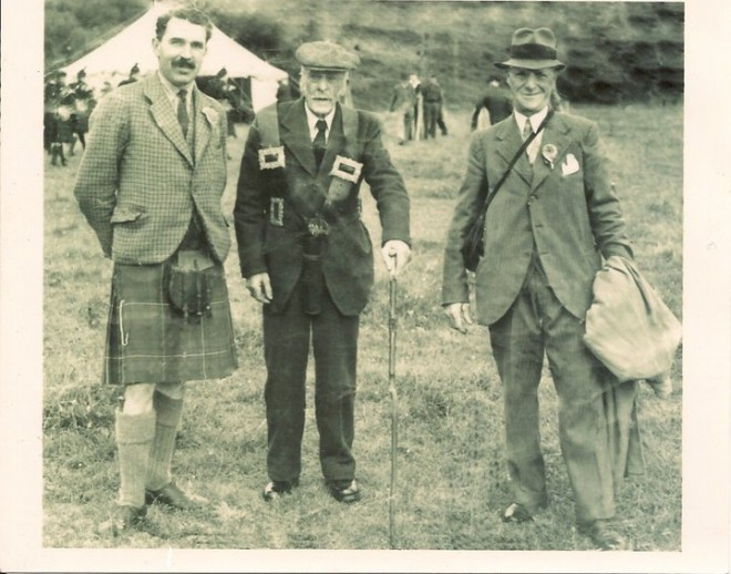 From the left: Sir George Nairn, John Petrie, Ronald Crichton 1946
