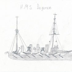 Sketch of HMS Defence