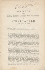 Sketches of the Early History, Legends, and Traditions of Strathardle and Its Glens