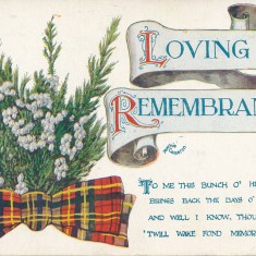 Postcard from Peter Mitchell's brother Adam to his sister Jemima, recieved on 17/07/1916. See gallery description for transcription.