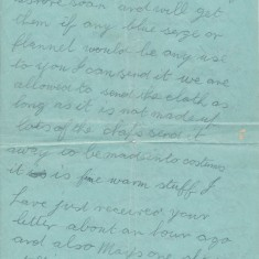 Letter from Peter Mitchell to his mother, sent from the HMS Defence (2/3)