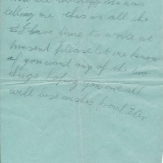 Letter from Peter Mitchell to his mother, sent from the HMS Defence (3/3)