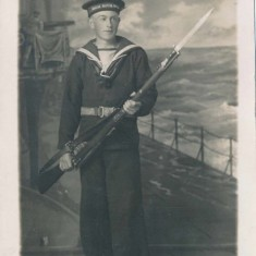 Peter Mitchell, who joined the Royal Navy Volunteer Reserve with his best friend Harry Morrison.