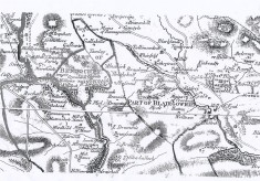 Old map of Bridge of Cally and Drimmie