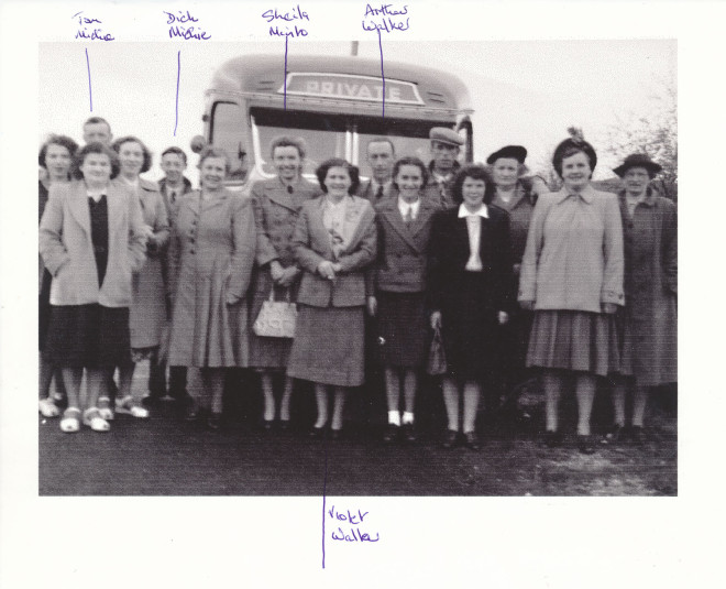 Enochdhu ladies social trip 1955