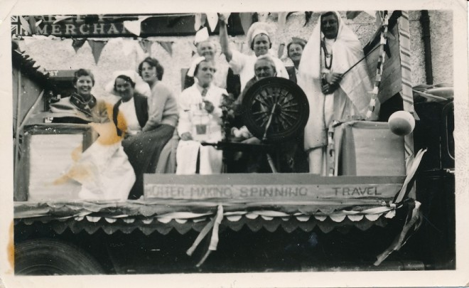 WRI float in Coronation celebrations 1953