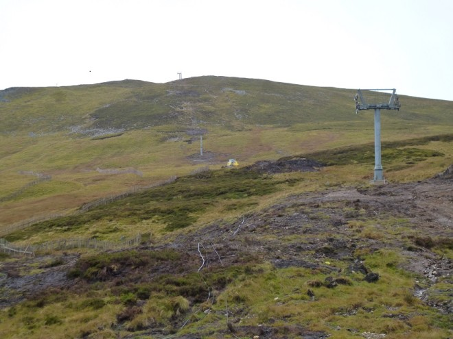The pylons are in place for the new chairlift up the Cairnwell. 2015