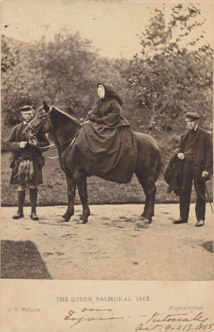 This is a picture which was sent as thanks to Patrick Small  Keir of Kindrogan in October 1865 .
