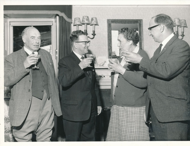 Reception at ~Dirnanean after opening of the new telephone exchange