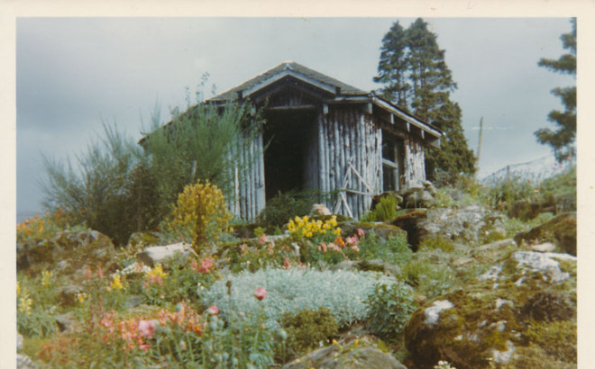Old summer house on Dirnanean estate 1970