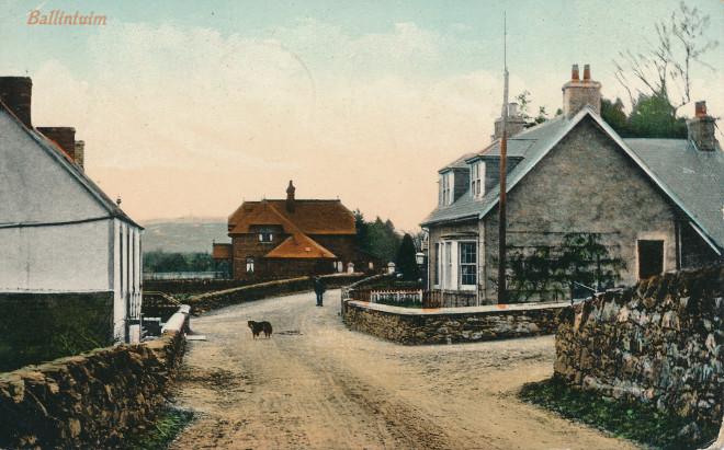 Ballintuim - an early coloured postcard