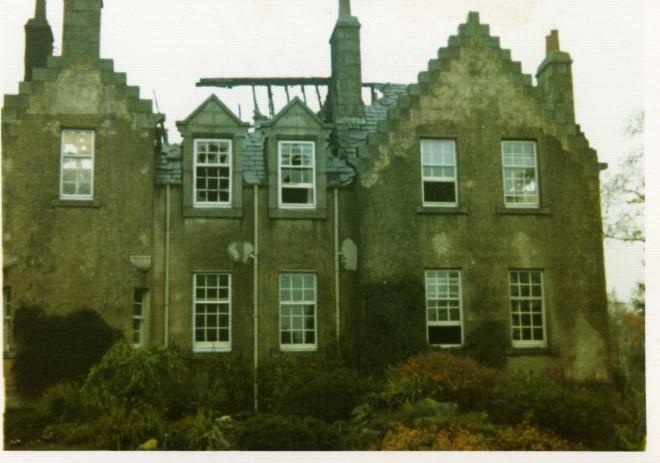 Dalmunzie Hotel fire damage