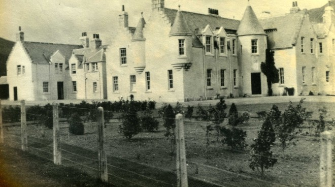 An early planting of trees in the grounds of Dalmunzie House