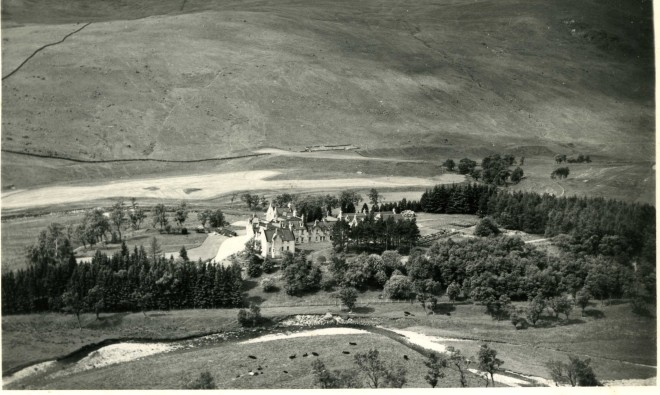 An aerial view of part of  Dalmunzie Estate