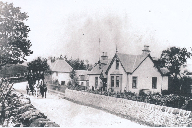 Coach and horses drive past Corrydon