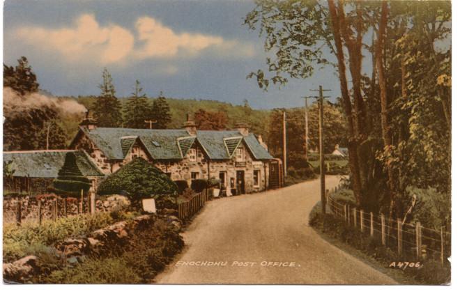A postcard of Enochdhu Post Office