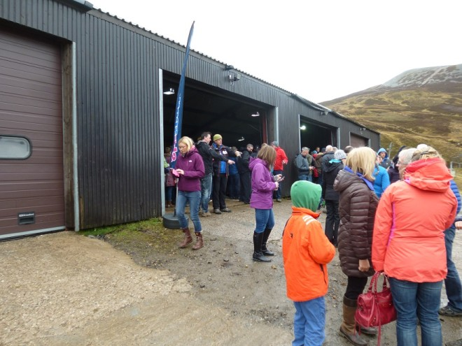 The auction gets underway at the chair lift