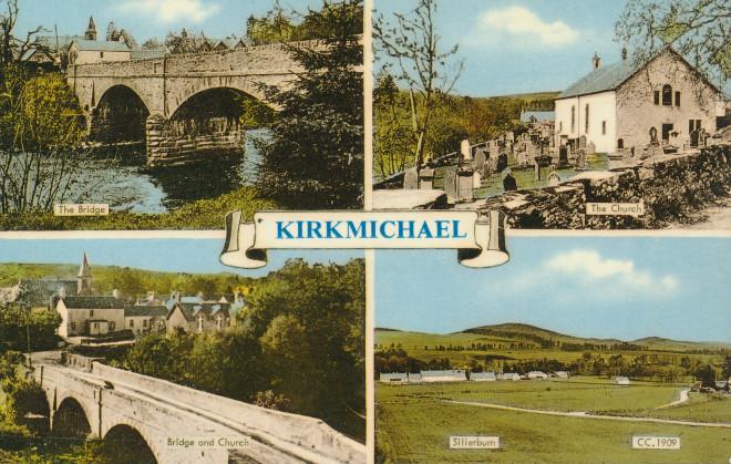 A postcard of Kirkmichael