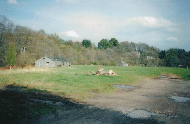 Scout Hut on the Bannerfield Kirkmichael about to be demolished 1995
