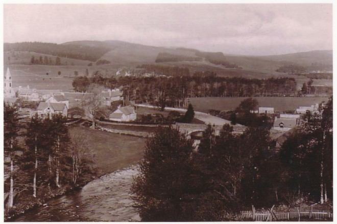 Kirkmichael village from the East