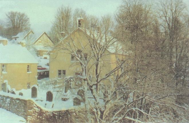 The parish church in the snow