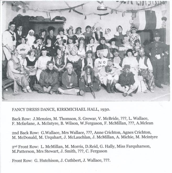 Dance Dress Dance Kirkmichael Hall 1930