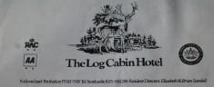 Log Cabin Hotel Letterhead