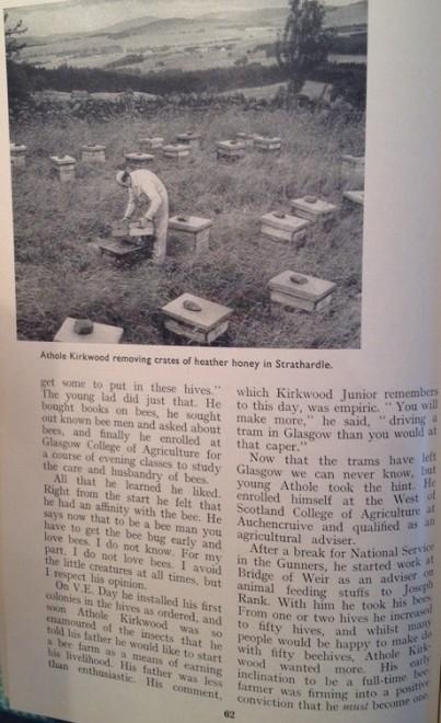 Athole Kirkwood removing crates of heather honey in Strathardle