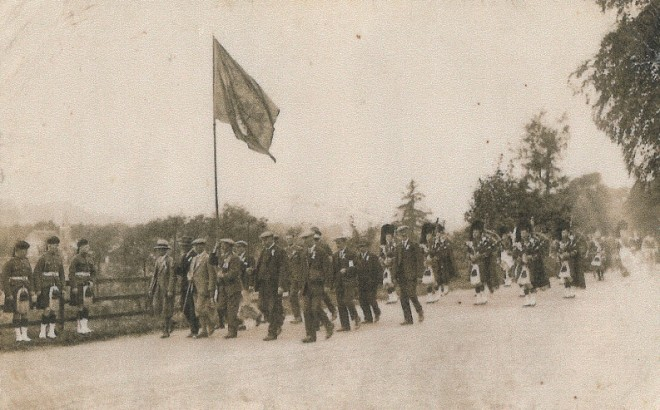 The opening of Strathardle Gathering 1939