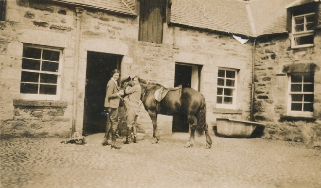 Joyce Dolby (left) and Katherine Balfour (right) outside the stables at Dirnanean.   | JohnManning