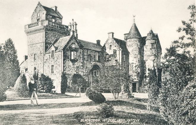 Blackcraig Castle  1895 taken from a postcard