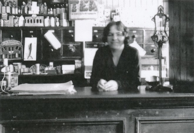Inside Kirkmichael shop c 1930