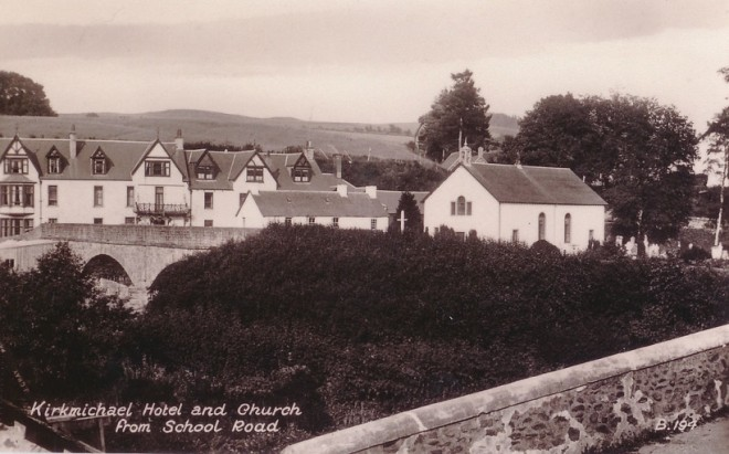 Kirkmichael village showing the parish church