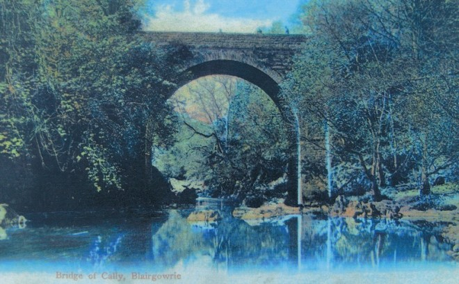 Only one bridge it seems! A postcard that has been commercially coloured.