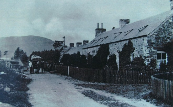 Enochdhu cottages; The cottage where James Brown Low lived before he died at Passchendael in1917 ww1