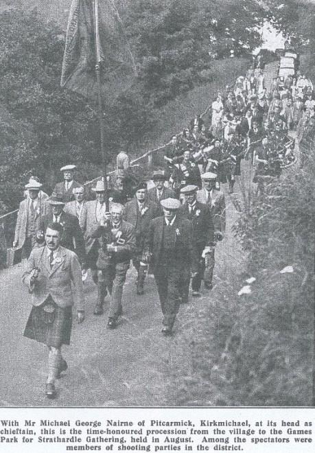 Strathardle Games Opening 1928.